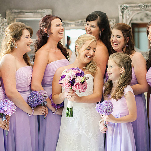 Bridesmade and flower girls