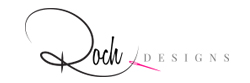 Main logo for Roch Designs on white background
